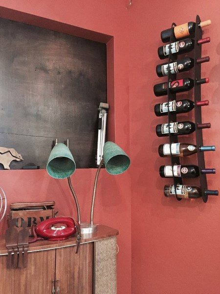 9 Bottle Wall Mounted Wine Rack Nine Bottle