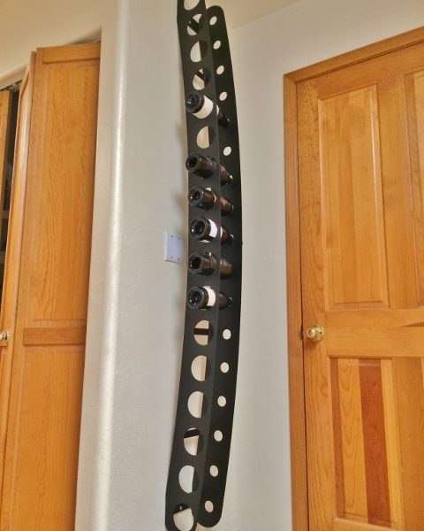 Custom Size Wall Mounted Wine Rack