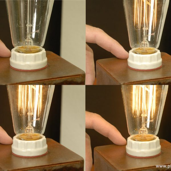 Three Light Settings of Industrial Table Lamp