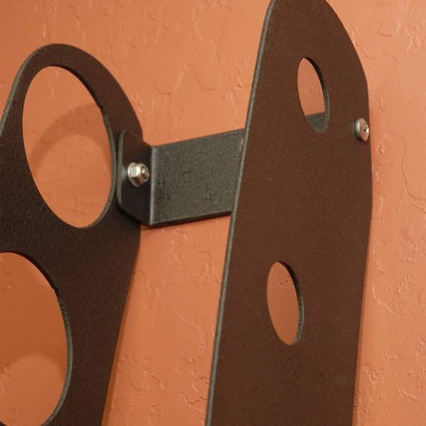 Wall Mounted Wine Rack By Funky Steel