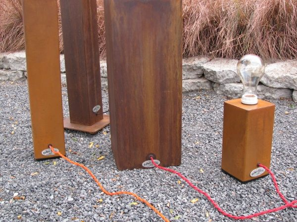 Big Jim Funky Industrial Table Lamp - Cord Variations Orange Or Red