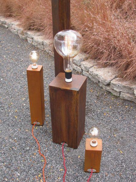 American furniture Albuquerque - Big Jim Funky Lamp rust finish variations