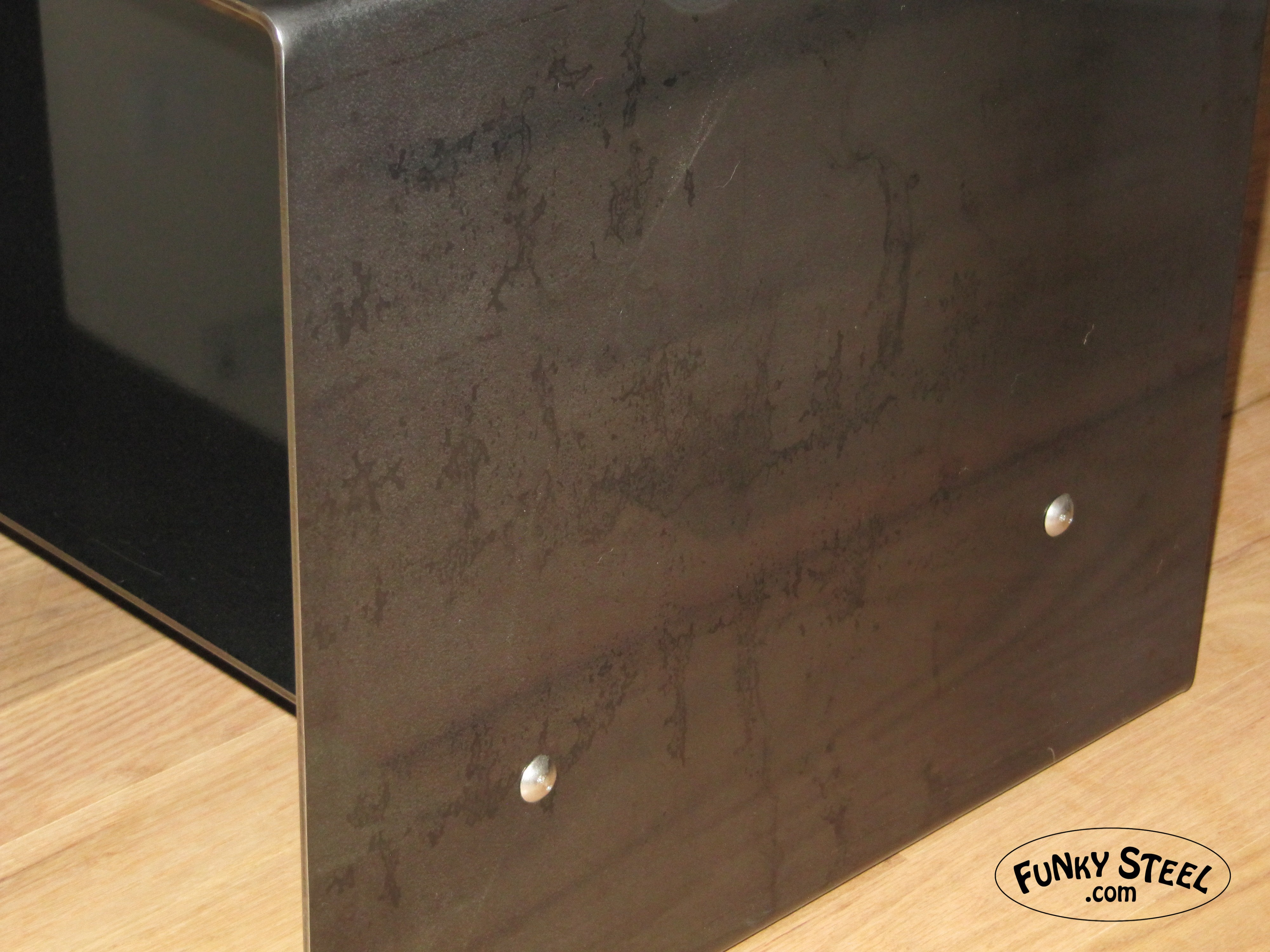 Charmant Raw Steel Finish Irregularities With Custom Finish Clear Coat